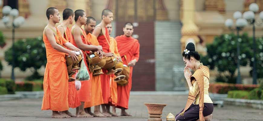 Thai buddhist monk
