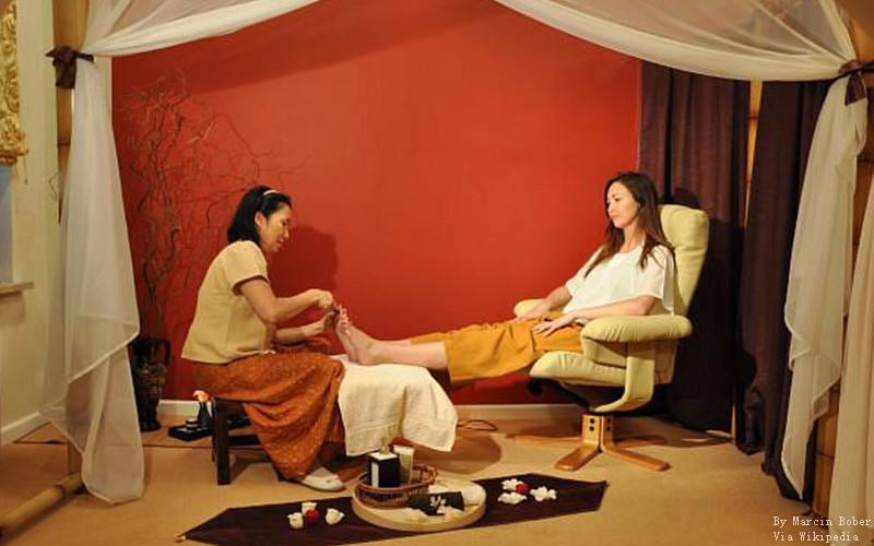 Apart from full set of massage, you can also just do a simple foot massage.