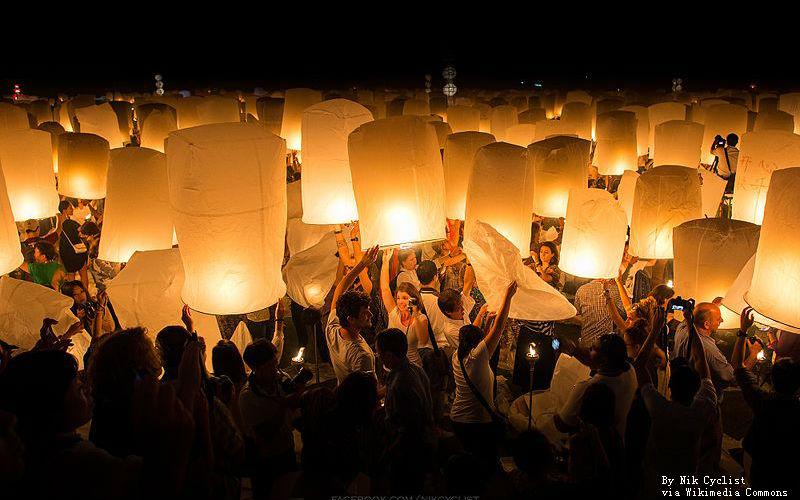 Loy Krathong sky lantern