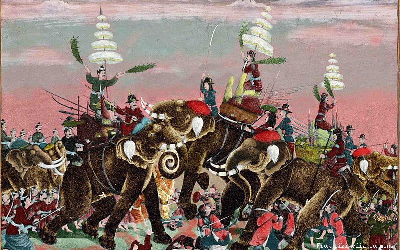 battle betwenn Burmese and Siamese