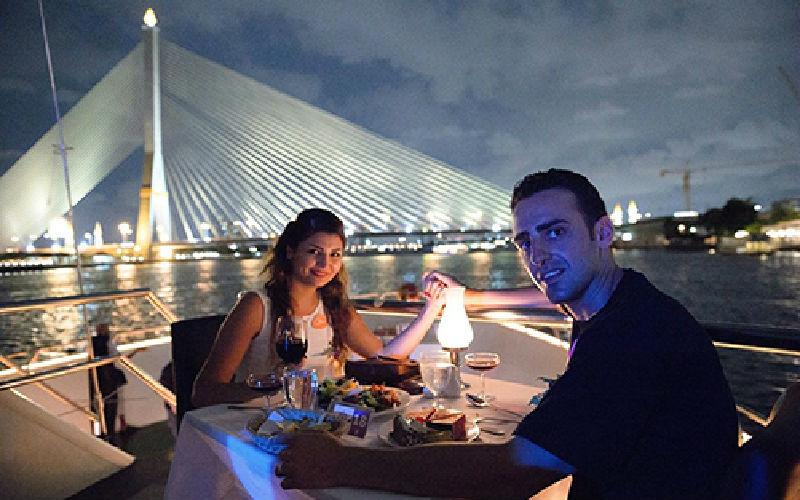 Chao Phraya Princess dinner cruising.