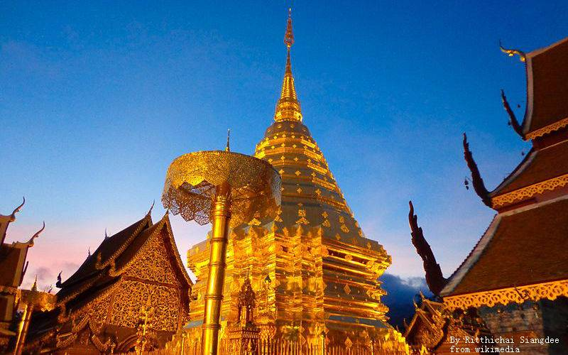 Glorious palaces in the summit of Doi Suthep.