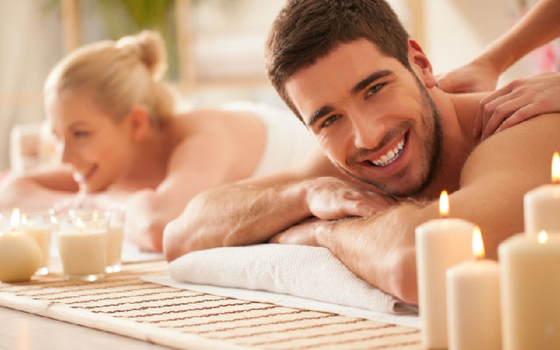 Relax your body on a rejuvenating spa for couples.