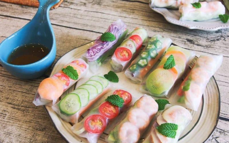 Vietnamese food: Summer Rolls