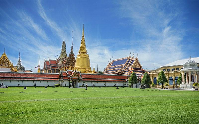 Wat Phra Kaew, The Emerald Buddha Temple And The Grand Palace