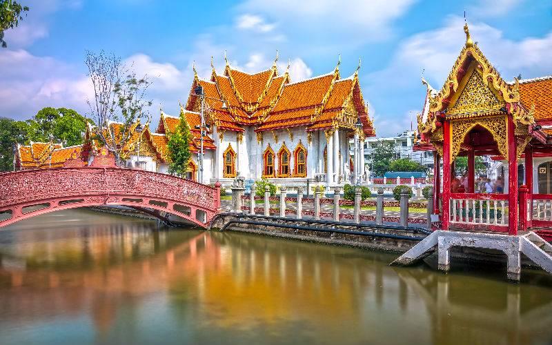 The Bangkok Marble Temple, Wat Benchamabophit Dusit wanaram.