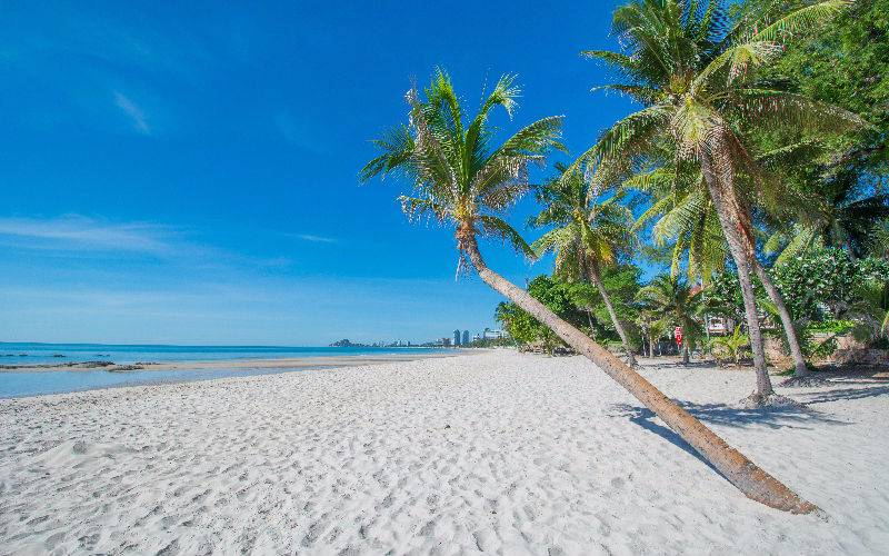 Picture: White sandy beach in Hua Hin.