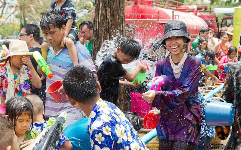 Songkran Festival water battle