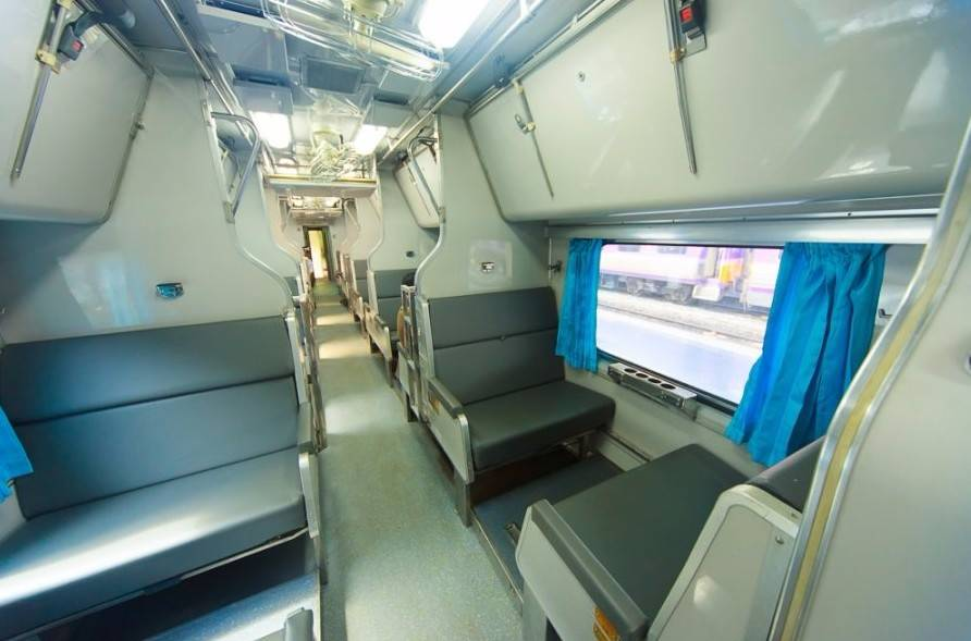 Overnight train from Bangkok to Surat Thani.