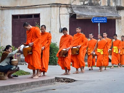 The Buddhist Alms Giving Ceremony