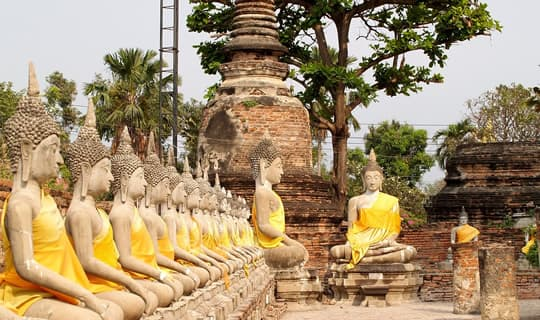 Ayutthaya One Day Tour by Van and Back to Bangkok by Luxury Cruise with Lunch