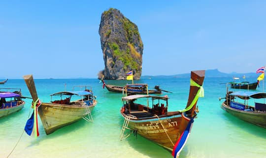 Four Island One Day Tour by Speed Boat from Krabi with Lunch
