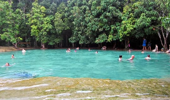 Krabi Hot Spring and Emerald Lagoon One Day Tour with lunch