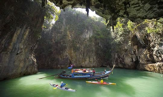 Phang-Nga Sea Canoe One Day Tour by Big Boat with Lunch