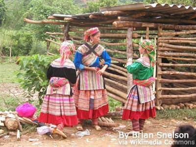 Flower Hmong village
