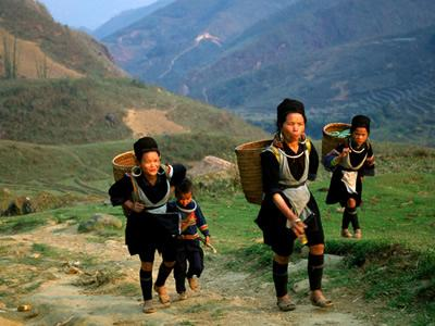 Black Hmong village